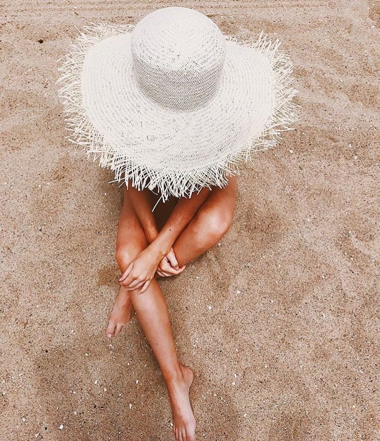 Sunny day tan sandy sand white straw hat summer vibes photography  wanderlust tan lines neutrals neutral 2c79c6162fd