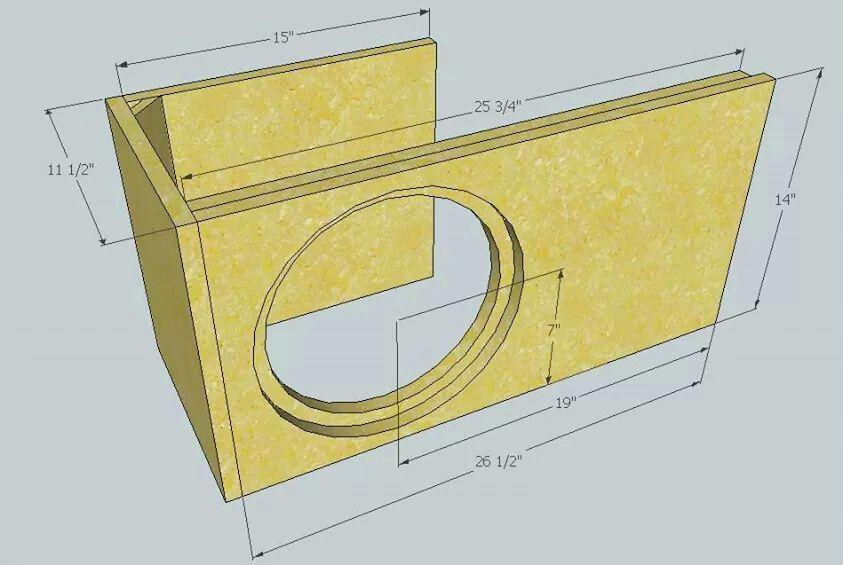 Single 12 Ported Box 2 0 Cu Ft 33hz Ported Box Box
