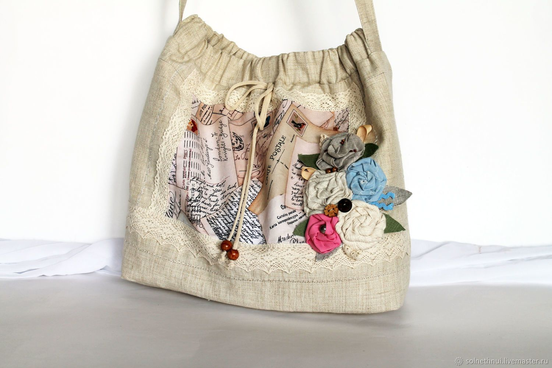 5bc6e2ac769c Женские сумки ручной работы. Ярмарка Мастеров - ручная работа. Купить Сумка  льняная.