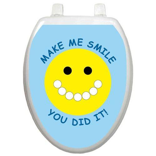 Toilet Training Toilet Seat Applique With Smiley Face Design Toilet Training Potty Training Tips Toilet Training Chart