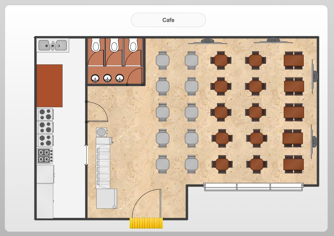 Restaurant floor plans templates - Conceptdraw Samples Floor Plan And Landscape Design