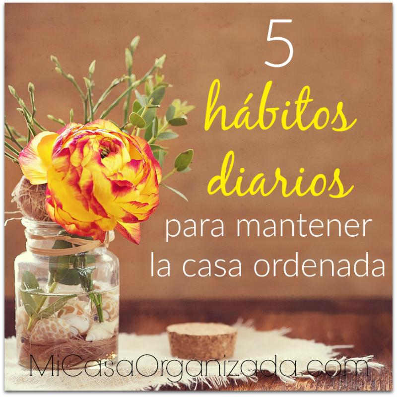 5 Hábitos Diarios Para Mantener La Casa Ordenada Mi Casa Organizada Casa Limpia Soluciones De Limpieza Naturales Trucos De Limpieza