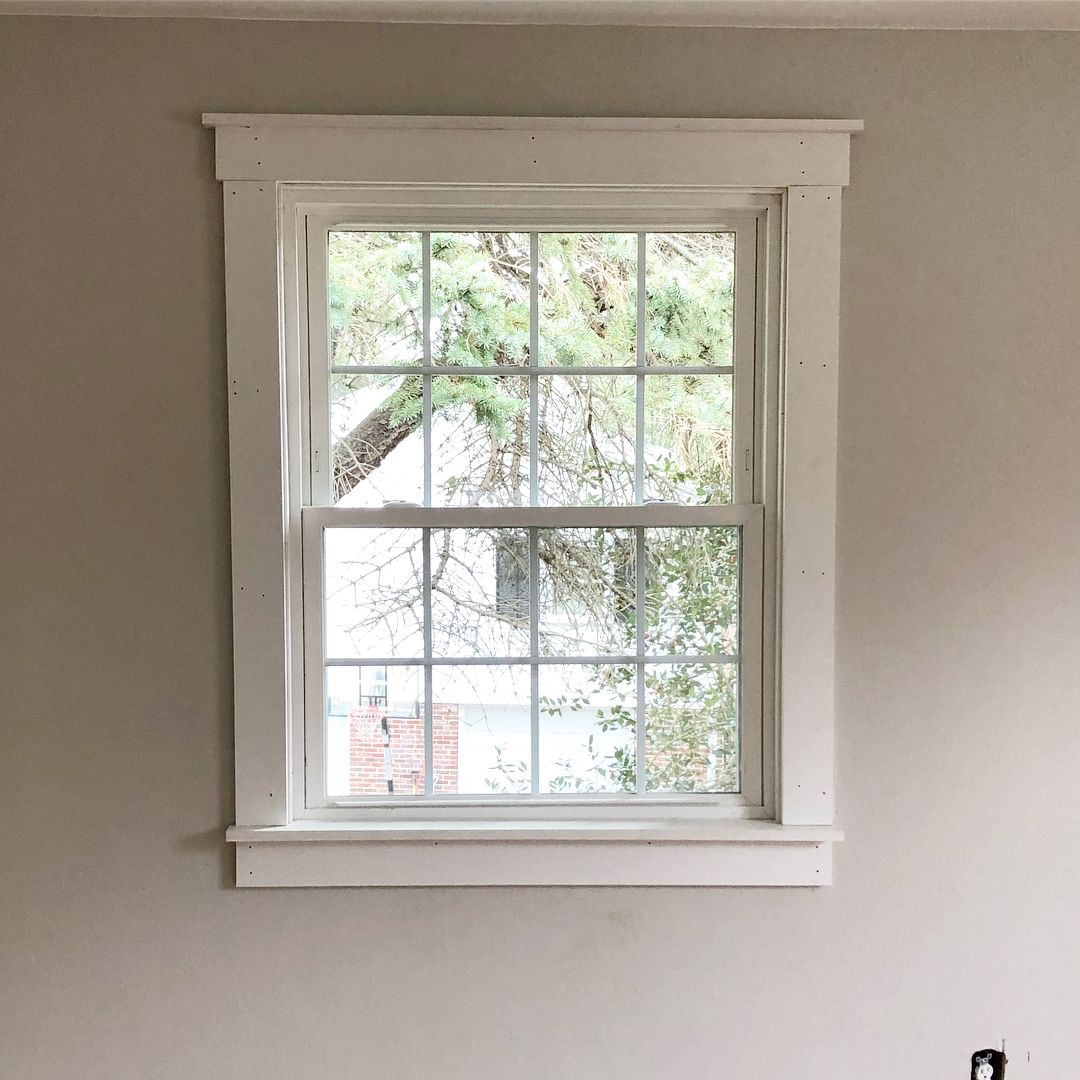 Diy Window Trim 5 1x4 Boards And 1 1x2 Board To Execute Interior Window Trim Diy Window Trim Window Trim