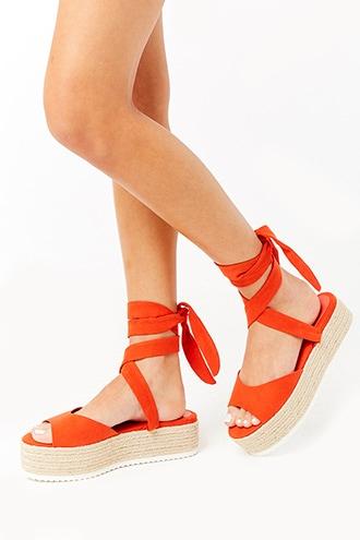 476c2be9fa2 Faux Suede Espadrille Flatform Sandals   Products   Shoes ...