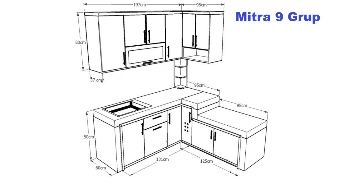 Harga kitchen set berdasarkan meter lari dan variabel for Harga buat kitchen set