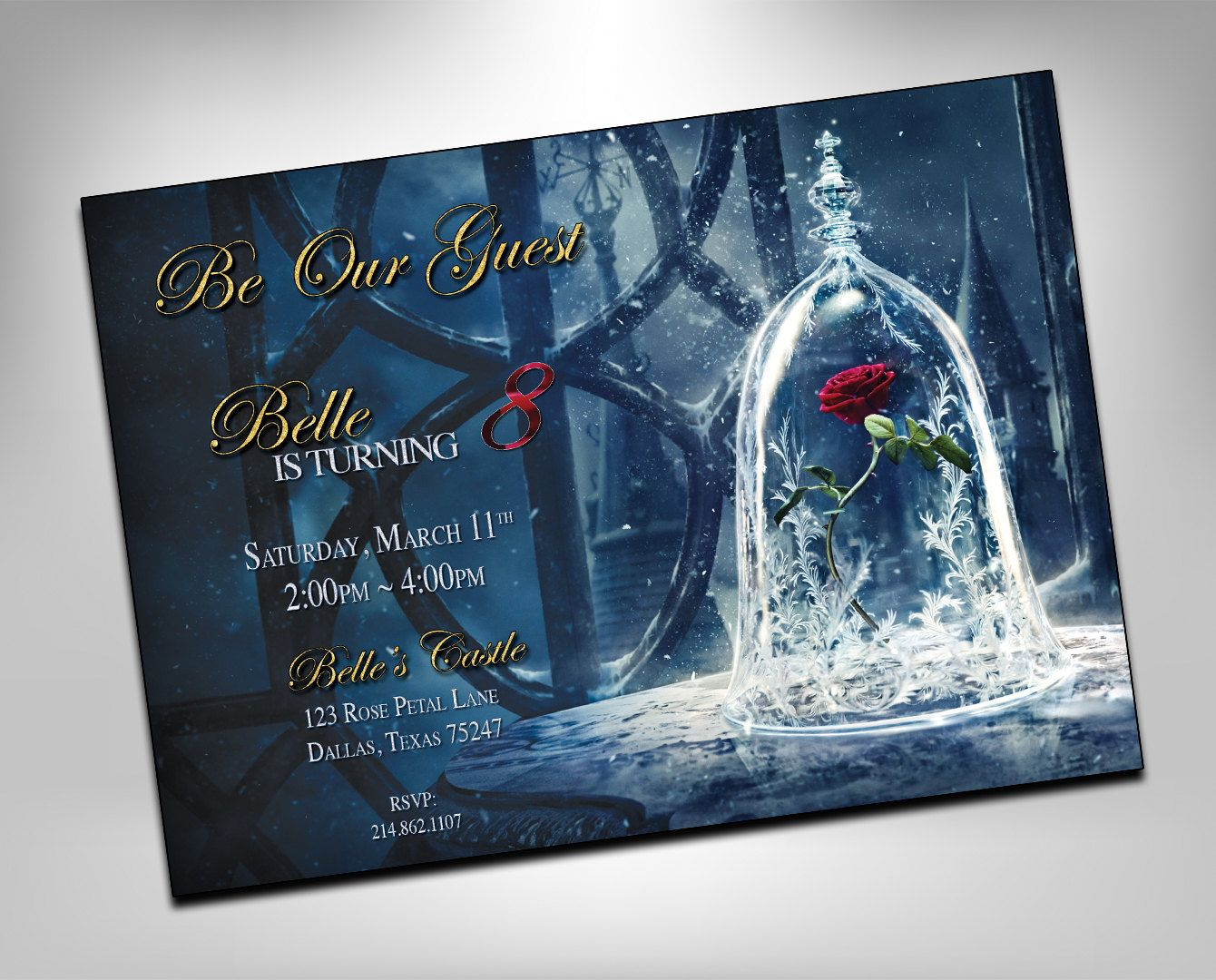 Beauty And The Beast Invitation Beauty And The Beast Invite