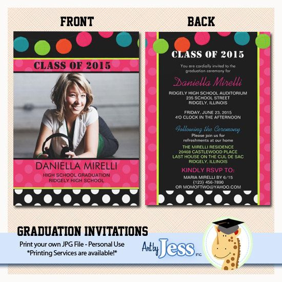 party lights graduation invitations print your by