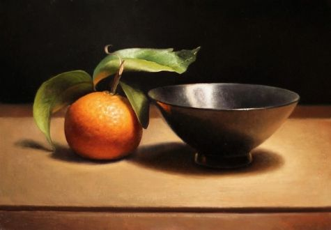 Still Life with Clementine, painting by artist Jos van Riswick