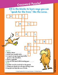 free printable lorax activity pages ymca homework bin pinterest lorax. Black Bedroom Furniture Sets. Home Design Ideas