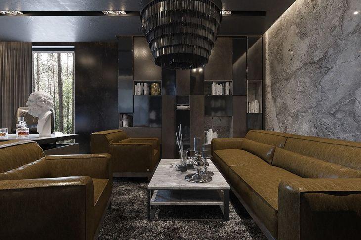 23 besten und erstaunlich dunklen Apartment Home Interior Deko-Ideen #dunkleinnenräume