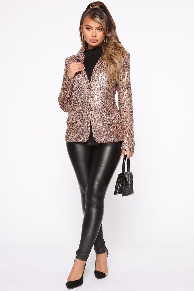 Cause I Said So Blazer Leopard Woman suit fashion