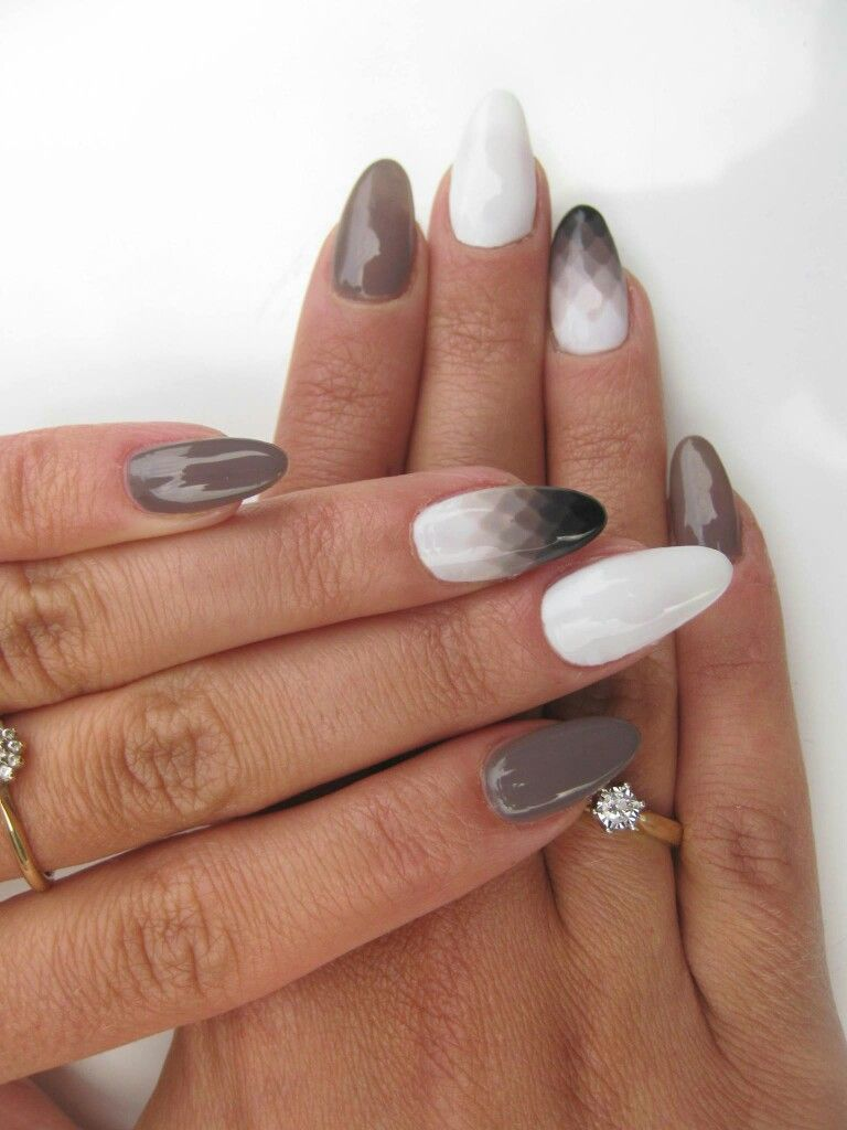 Geometryczne Ombre With Images Trendy Nails Pretty Nails