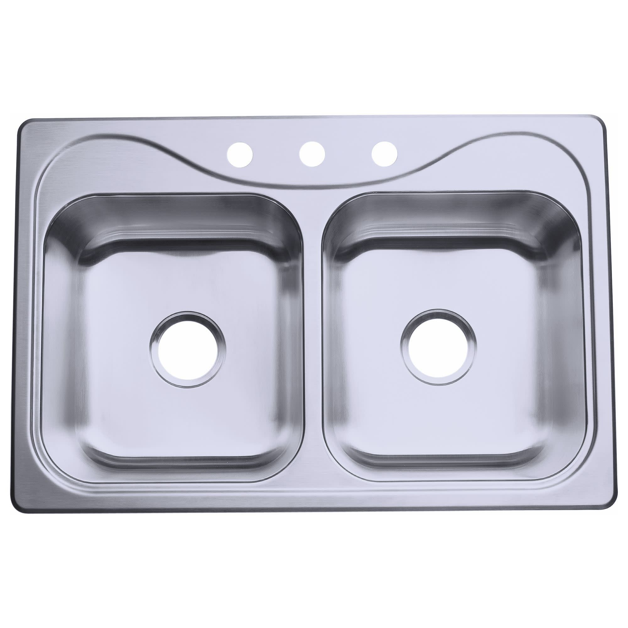 Sterling 11400 3 Southhaven 33 Double Basin Drop In Stainless