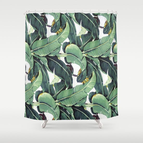 Pin By Ching Sung On Apt Finds Old Banana Leaf Shower Curtain