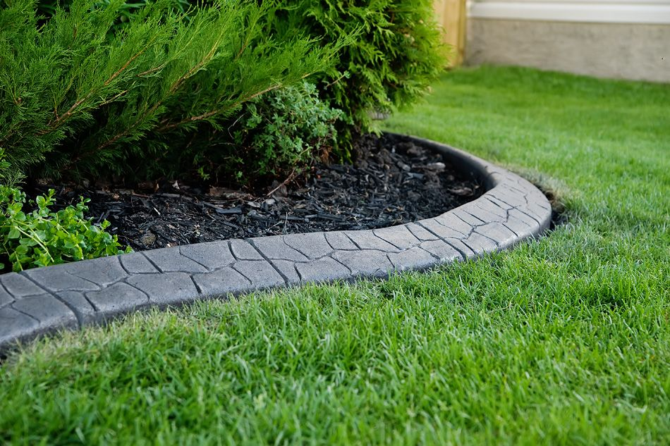 Cinderblockgarden Textured Curb Decorative Landscape Curbing Concrete Lawn Edging