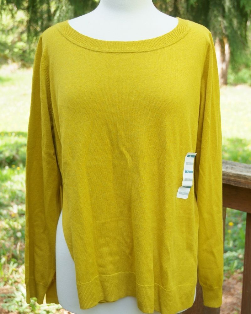 Old Navy Pullover Sweater Size XL TG Mustard Yellow Lightweight ...