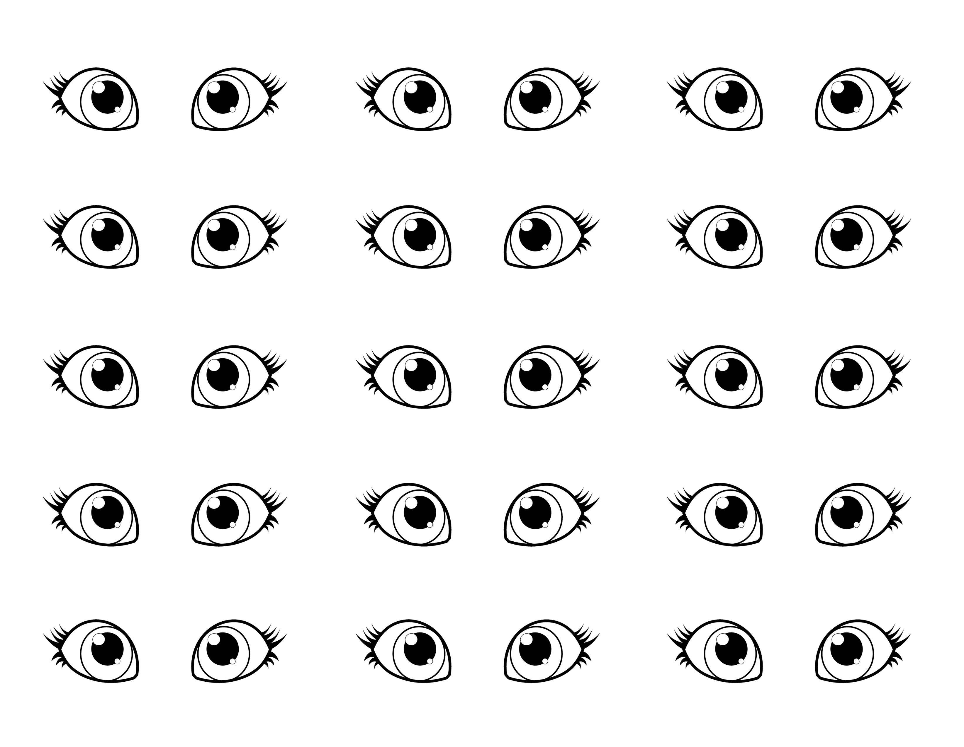Eyes Coloring Pages 06