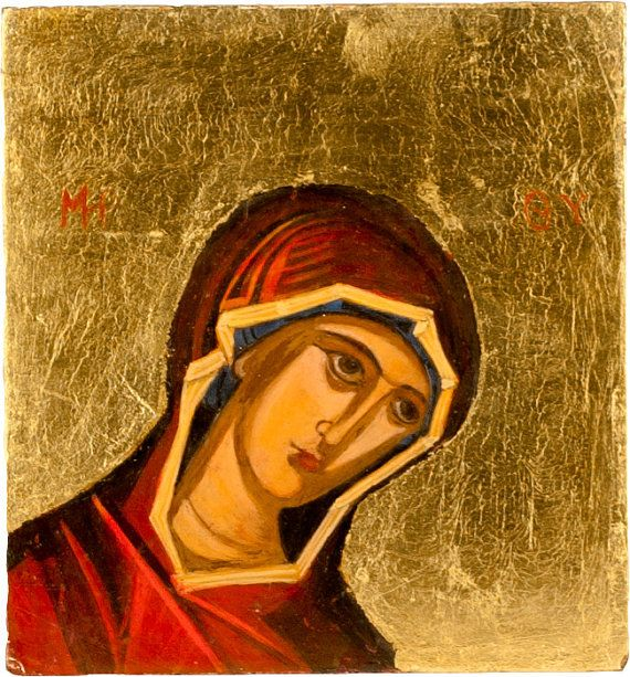 Virgin Mary handmade painting by angelicon on Etsy
