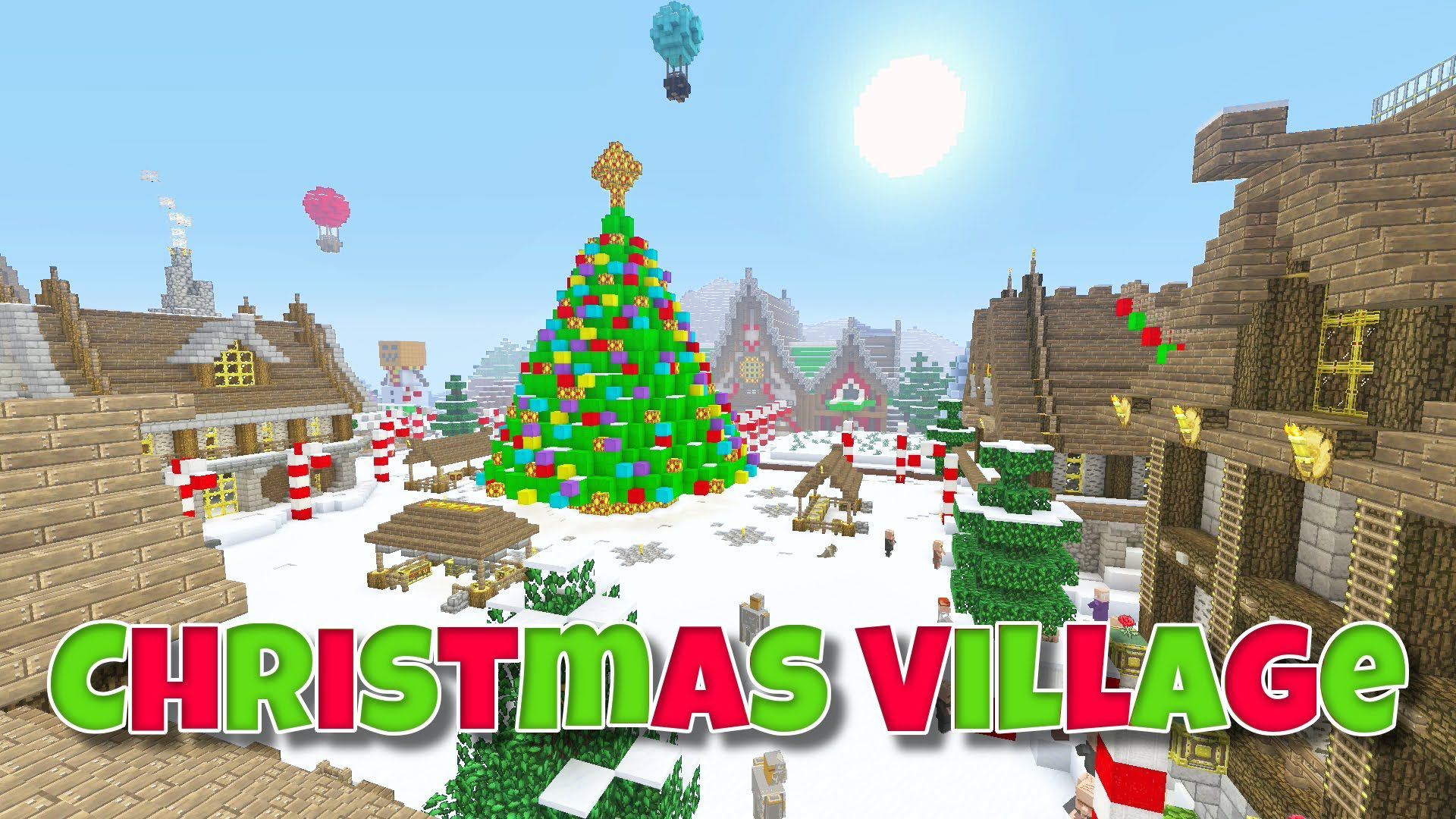 Minecraft Christmas Houses.Minecraft Christmas Village Showcase Minecraft Life