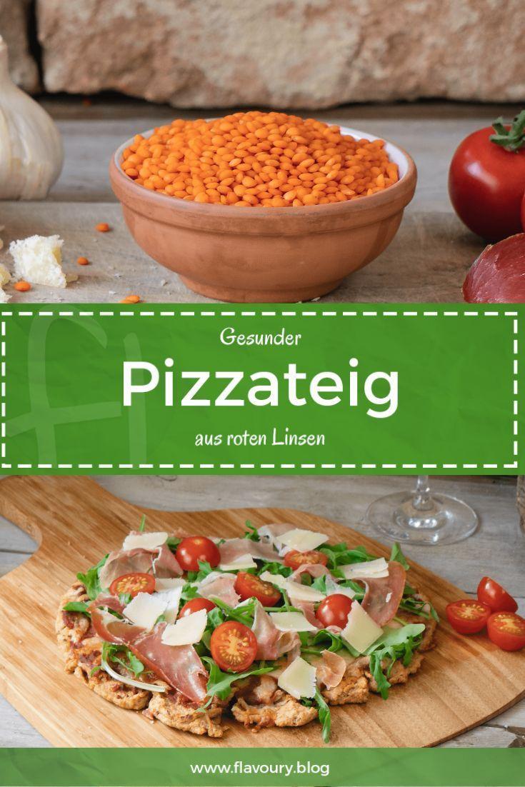Gesunder Pizzateig aus roten Linsen // glutenfreies Rezept Gesunder Pizzateig aus roten Linsen // glutenfreies Rezept -