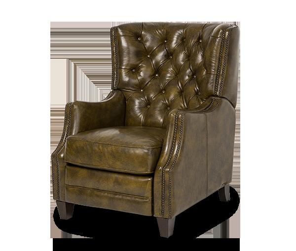 Rycote Leather Reclining Chair in Dark_Olive Espresso | Freestanding | Michael Amini Furniture Designs | amini.com