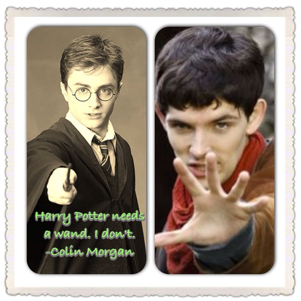 I Love Harry Potter But I Love The Fact That Colin Morgan Thinks Merlin Can Beat Him I Think I Might Agree Merlin Best Tv Series Ever Colin Morgan