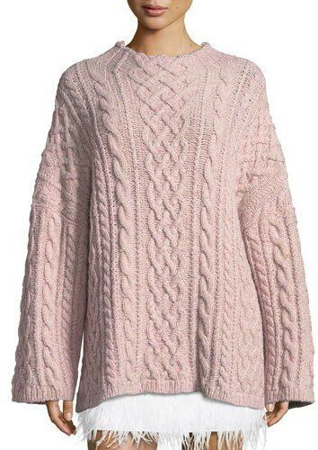 ae77a44ca176 Milly Oversized Fisherman Cable-Knit Sweater