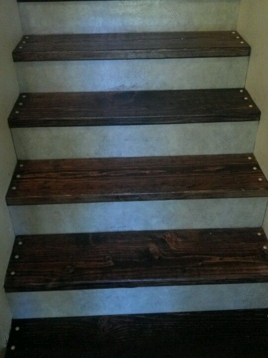 Diy Stairs Stained Boards Linoleum Kick Plate Diy Stairs Stairs Kick Plate Home Improvement