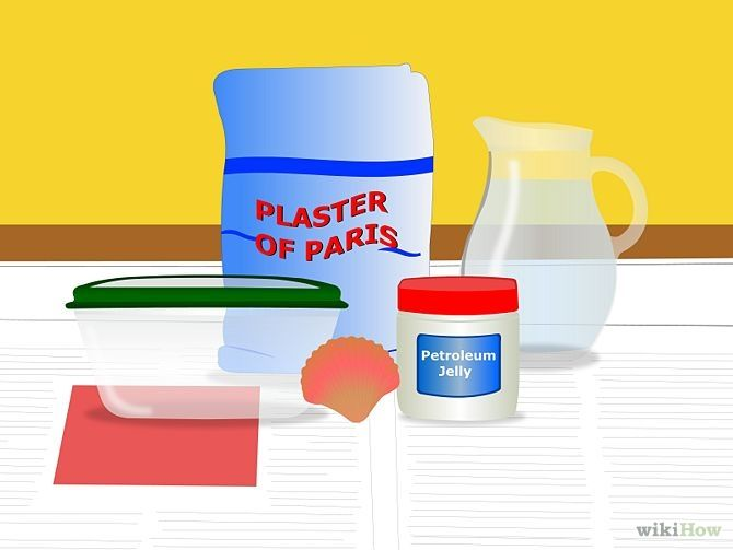 how to make dinosaur fossils with plaster of paris