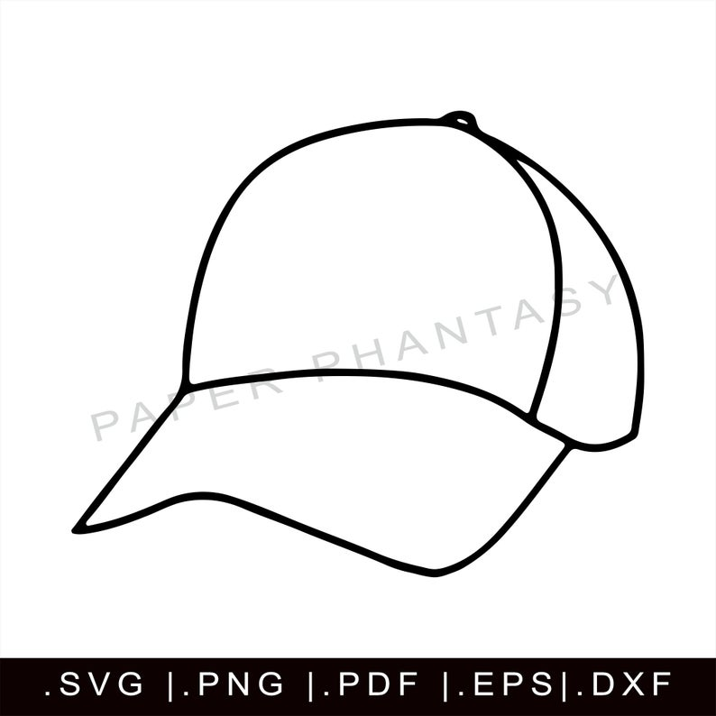 Baseball Cap Outline Svg Dad Hat Sports Clothing Fashion Etsy In 2020 Dad Hats Cap Drawing Baseball Cap