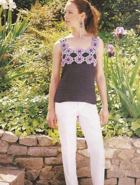 Patrón #934: Jersey con Rosetones a Crochet | CTejidas [Crochet y Dos Agujas]