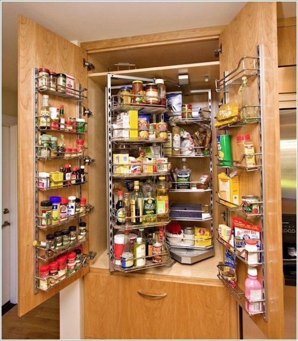 12 trucos para almacernar cosas en una cocina pequena 1   Ideas para ...