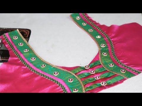 1c56eefa42f70 Paithani saree blouse neck design cutting and stitching at home ladies  fashion youtube also rh in