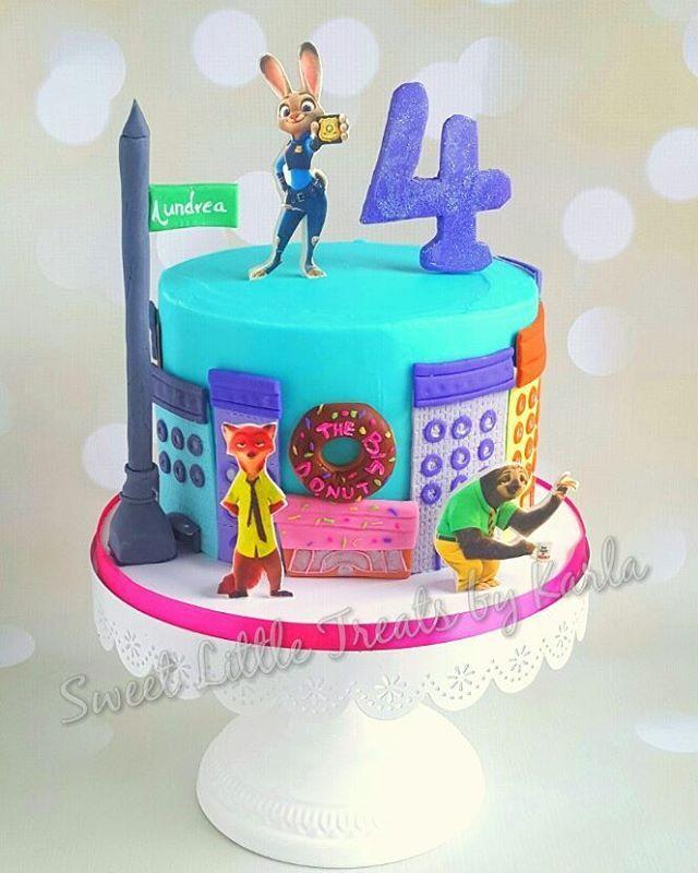 "10 Gostos, 1 Comentários - Karla (@sweetlittletreatsbykarla) no Instagram: ""Buttercream with fondant accents!  #zootopia #cake #coloradosprings #fondant #disney"""
