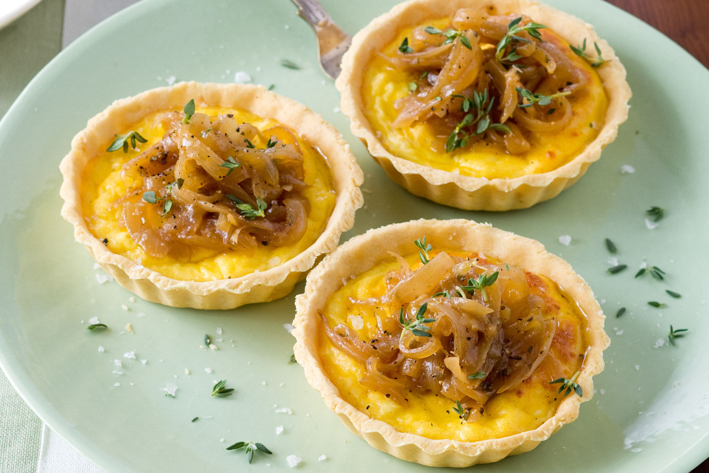 Glutenfree caramelised onion and thyme tarts recipe