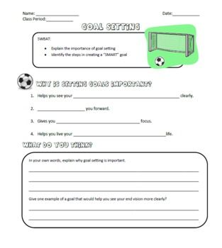 Printables Goal Worksheet For Students 1000 images about smart goals on pinterest student portfolios graphic organizers and goal planning