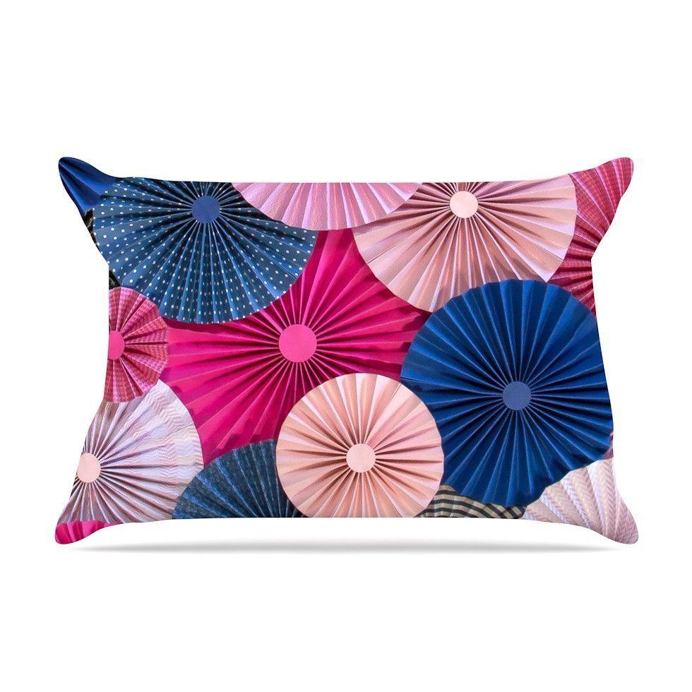 By Heidi Jennings Magenta Blue Cotton Pillow Sham
