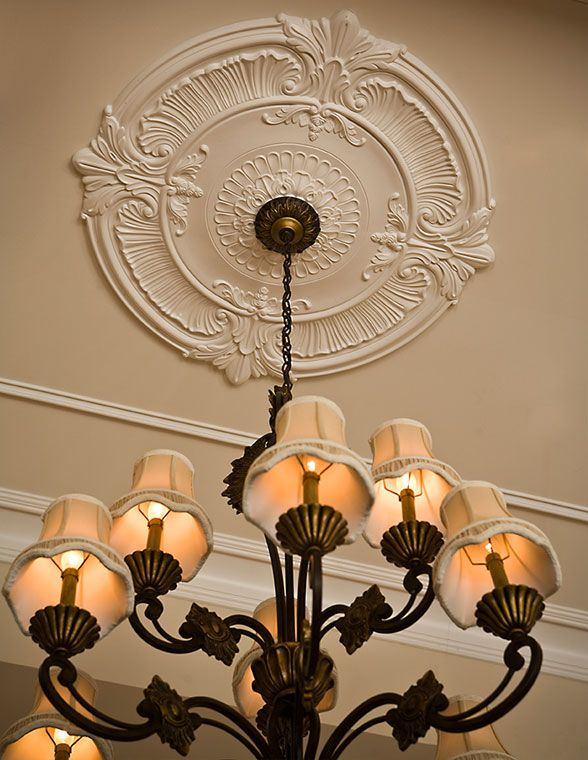 Large ceiling medallion and chandelier - ♥  44c831378