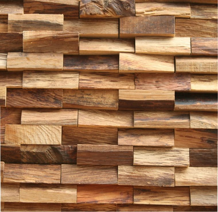 paredes de madera con relieves idees decoració Pinterest - paredes de madera