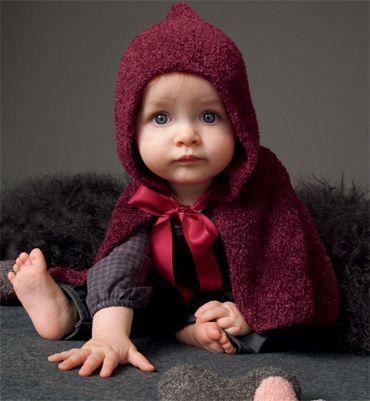 Modèle cape à capuche bébé - Modèles tricot layette - Phildar   Baby ... 6efe9fd7296
