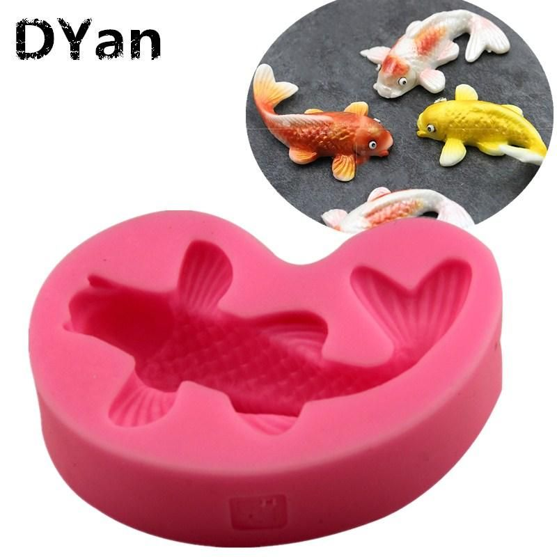 Chocolate Baking Bakeware Sugar Craft Fondant 3D Fish Mould Soap Silicone