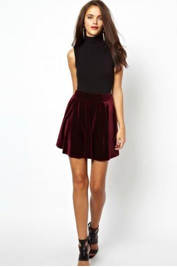 413c6b1e4 Dressy velvet skirt | $tuff To Wear | Skirts, Velvet pleated skirt ...