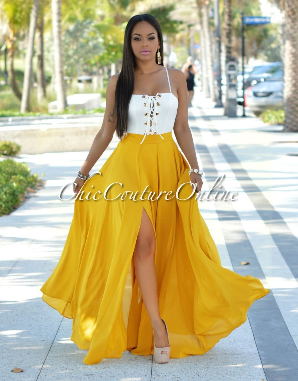 Caribbean queen white dress