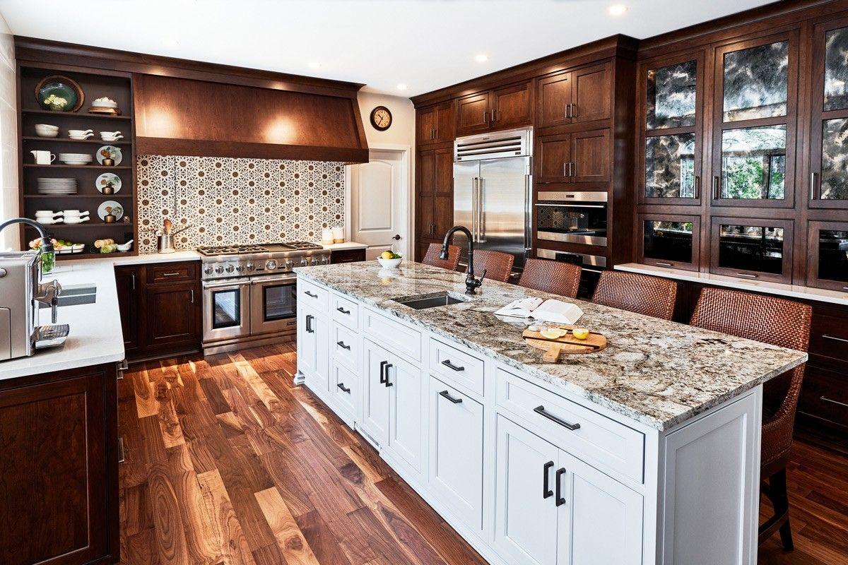 Light Granite Countertops Dark Cabinets
