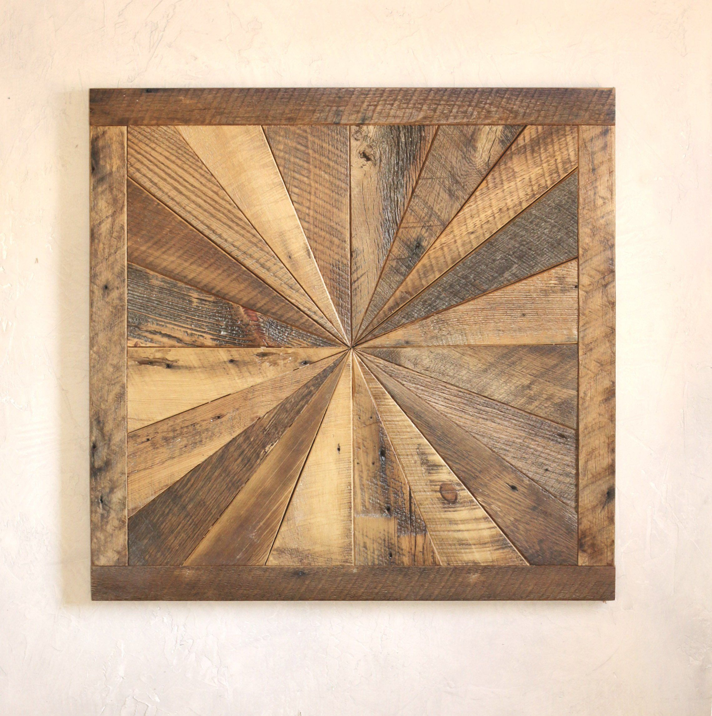 Barnwood Wall Art starburst pattern wall art made from reclaimed wood - barn wood