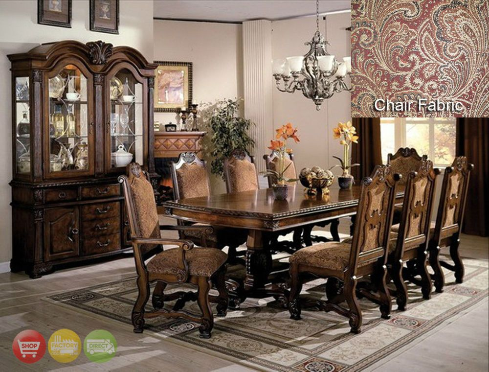 Neo Renaissance Formal Dining Room Furniture Set With Optional China Cabinet