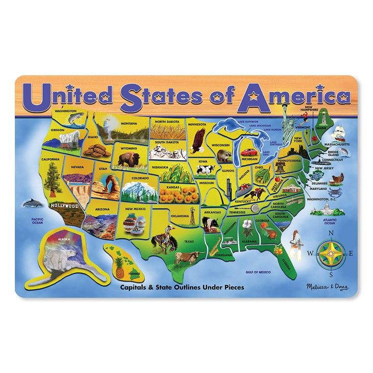 Usa Map Large Wooden Puzzle Teachers Haven Wooden Puzzles
