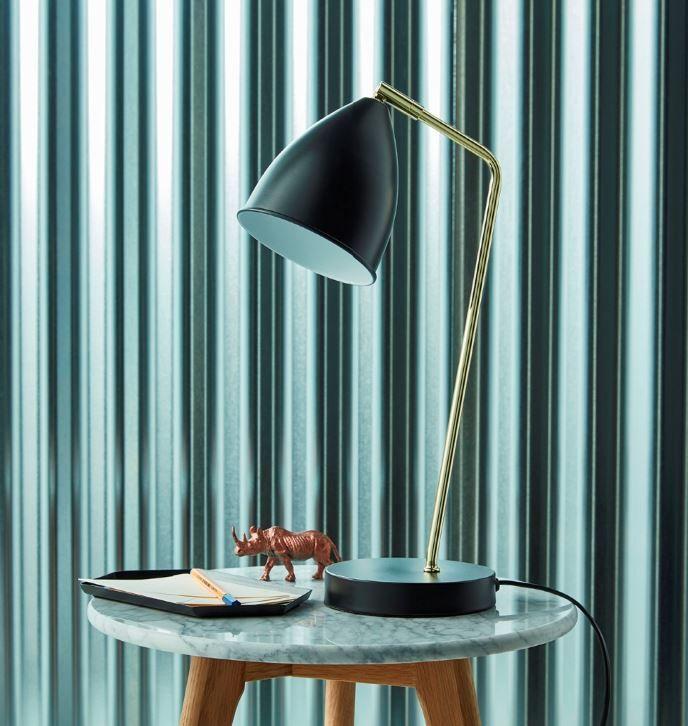 Lampe De Bureau Colours Sherman Noir Brillant Lampe De Bureau Bureau Et Lampe De Chevet