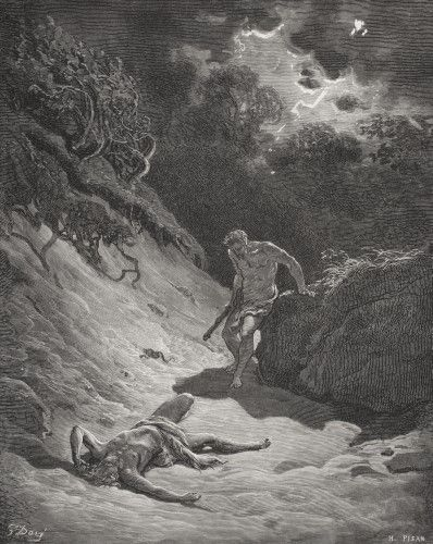 Engraving From The Dore Bible Illustrating Genesis Iv 6 To 12 The