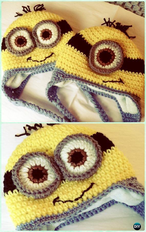 Diy crochet earflap hat free patterns crochet minions flap hat crochet minion earflap hat free pattern instructions diy crochet ear flap hat free patterns dt1010fo
